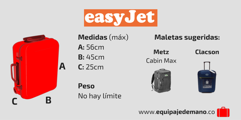 Equipaje de Mano Easyjet