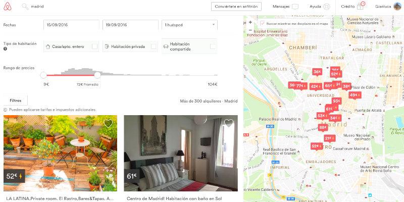 buscar apartamento Airbnb