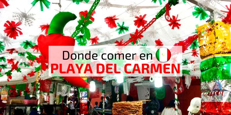 Comer en Playa del Carmen