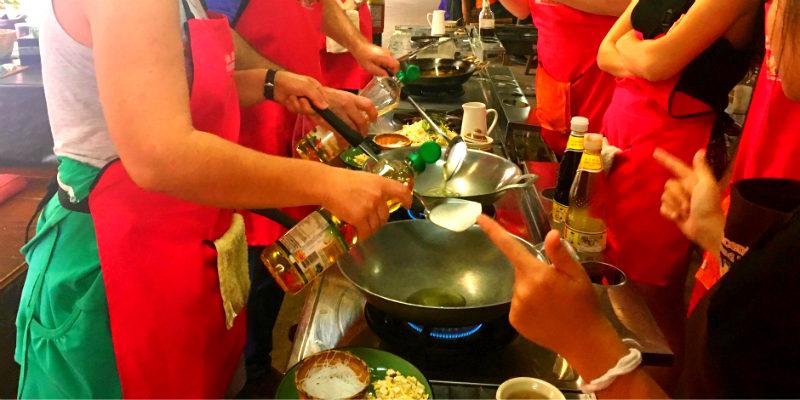 escuela de cocina tailandesa
