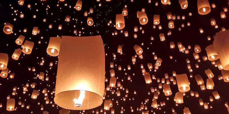 festival de luces en Chiang Mai