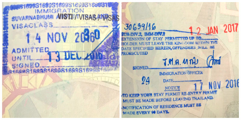 visa tailandia