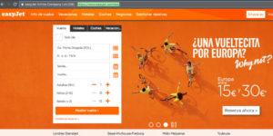 Easyjet online check in