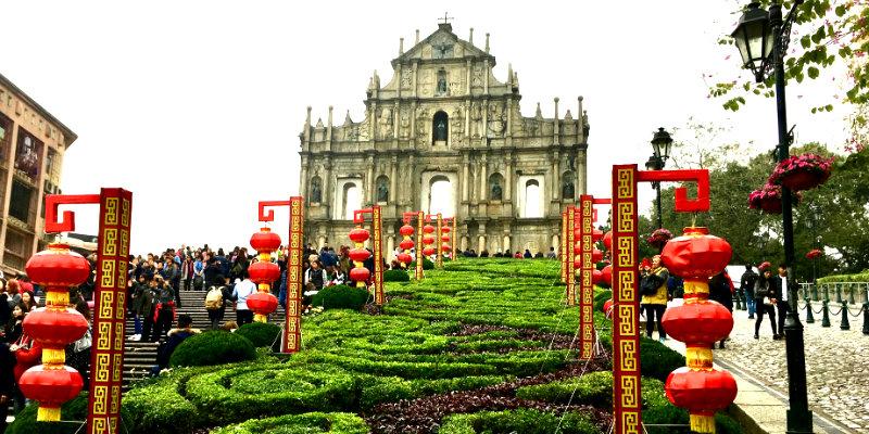 Ruinas de la catedral de San Pablo de Macao